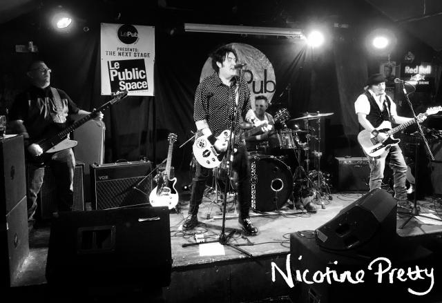 Nicotine Pretty Live Band Photo at Le Pub, Newport 08/06/17