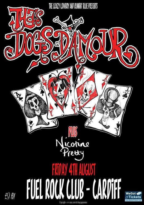 Nicotine Pretty w/ Dogs D'Amour @ Fuel Rock Bar, Cardiff