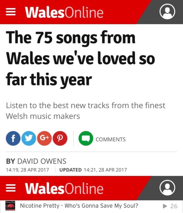 Nicotine Pretty WalesOnline Playlist
